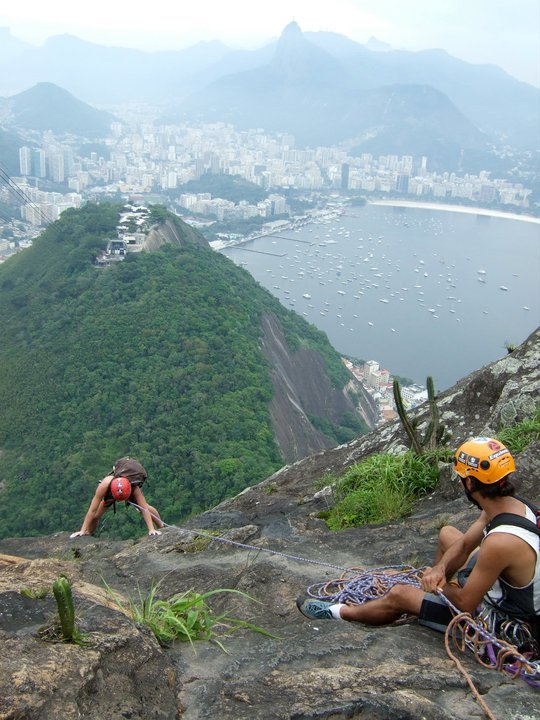 Climbing up to Corcovada